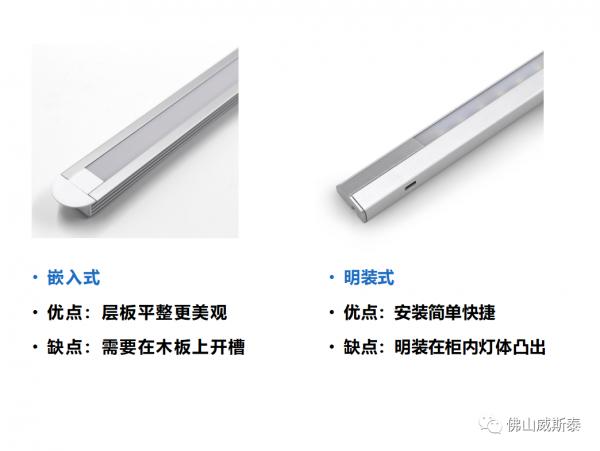 明装/暗装 LED紫外线柜灯
