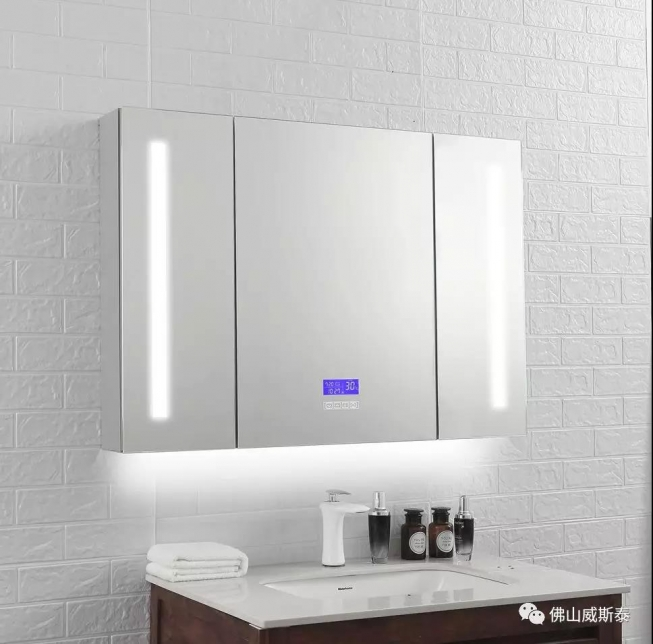 LED镜柜 不锈钢 浴室镜柜 卫生间置物柜隐藏挂墙式吊柜梳妆镜子